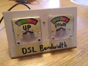 DSL bandwidth meter